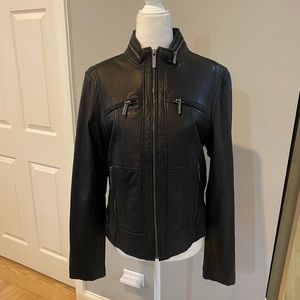 MICHAEL Michael Kors black leather jacket